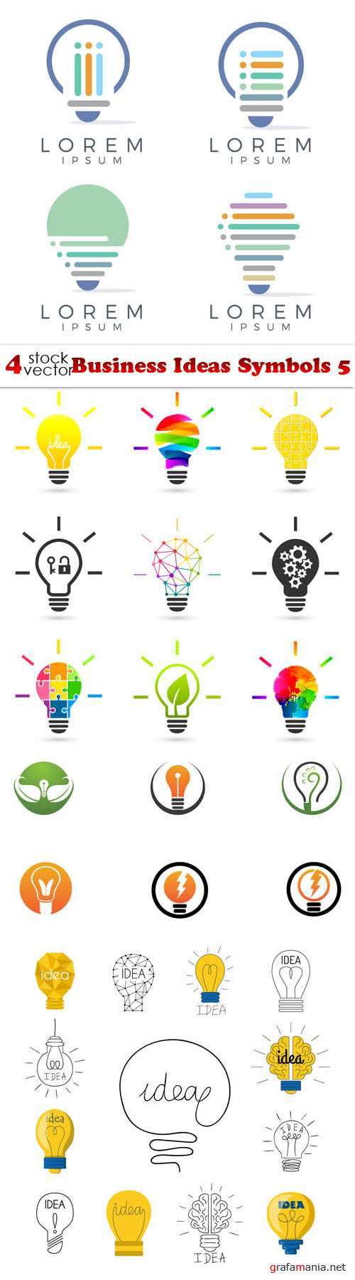 Vectors - Business Ideas Symbols 5