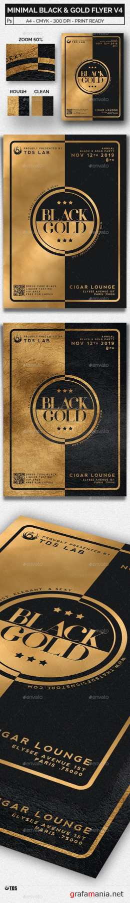 Minimal Black and Gold Flyer Template V4 20465471
