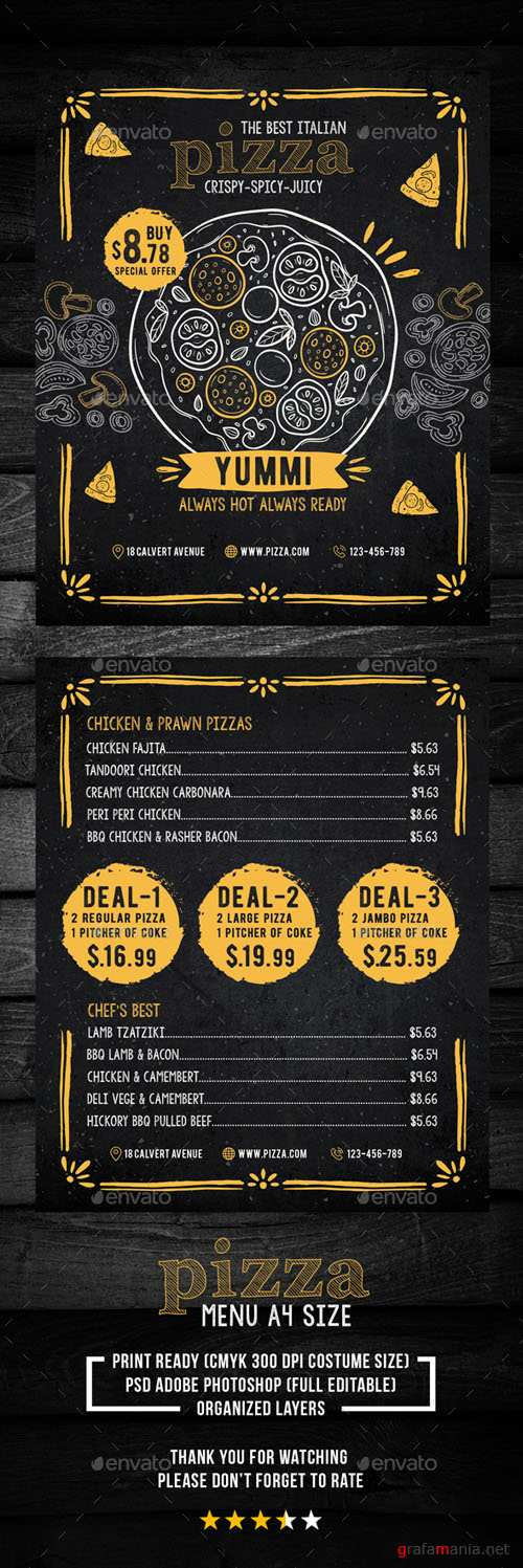 Pizza Menu for Restaurant 20450102