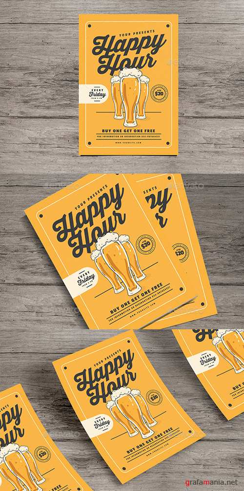 Happy Hour Beer Flyer 20483146