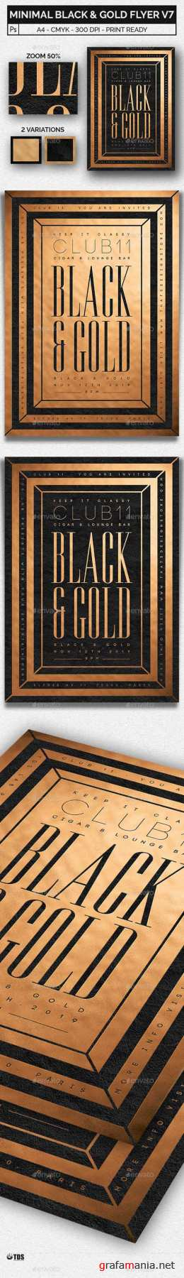 Minimal Black and Gold Flyer Template V7 20498374