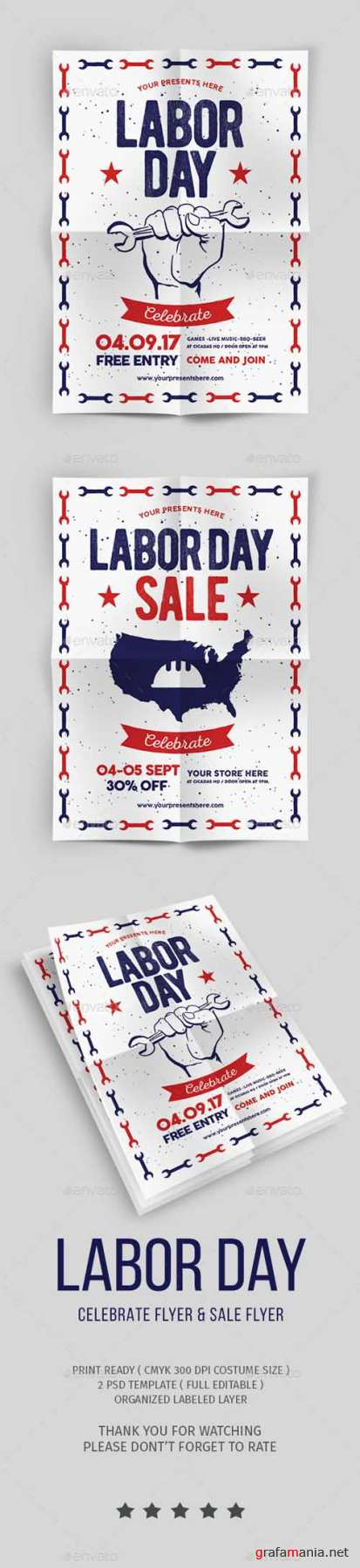 Labor Day Flyer & labor Day Sale Flyer 20514194