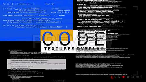 MA - Code Textures Overlay 87338
