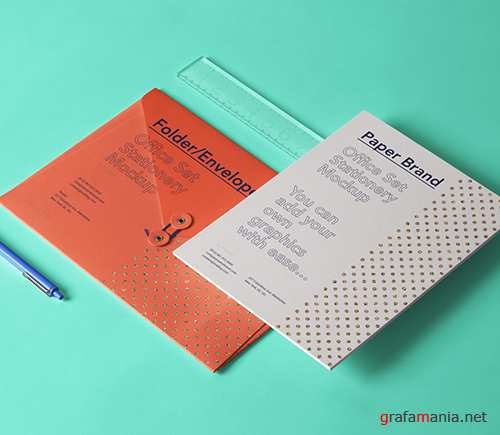 Office Stationery Set Mockup