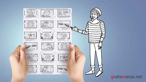 MA - Doodle Animation - Hipster Man 138910