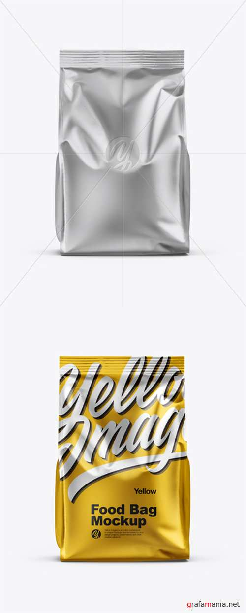 Matte Metallic Food Bag Mockup 35331 TIF