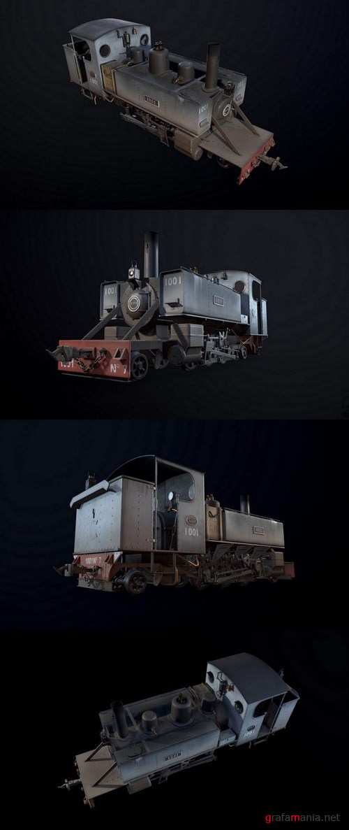 WWI Trench Locomotive – 3D Model