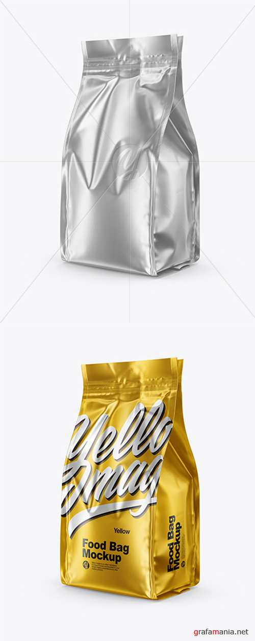 Matte Metallic Food Bag Mockup 43274 TIF