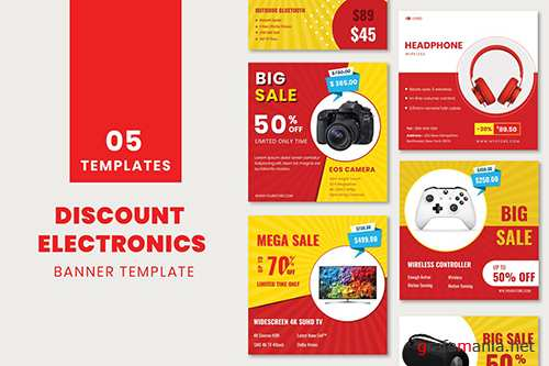 Discount Electronics Banner Template