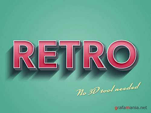 3D Retro Style Text Effect Mockup 291567309 PSDT