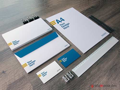 Full Stationery Mockup with Ruler, Pencils, and Sharpeners 283815578 PSDT