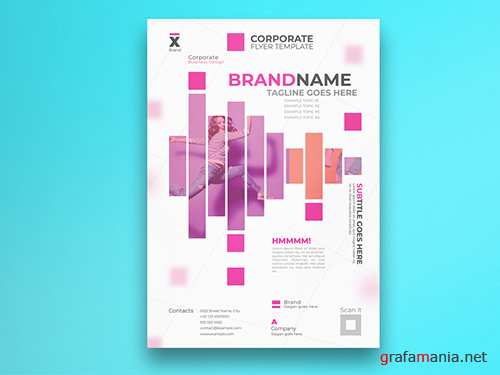 Corporate Flyer Layout with Pink Elements 292367141 PSDT