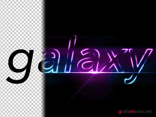 Purple and Blue Glowing Text Effect 286898655 PSDT