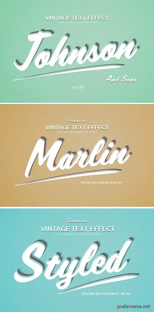Vintage Text Effect with Teal Highlights 293844938 PSDT