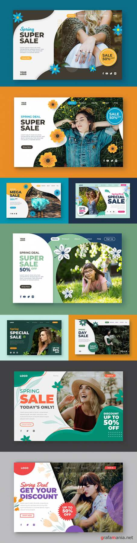 Super sale and discount design landing page