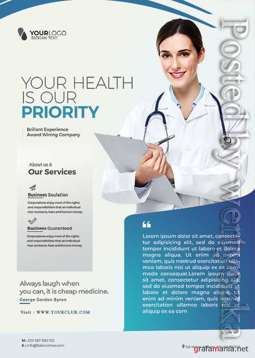 Medical Health - Premium flyer psd template