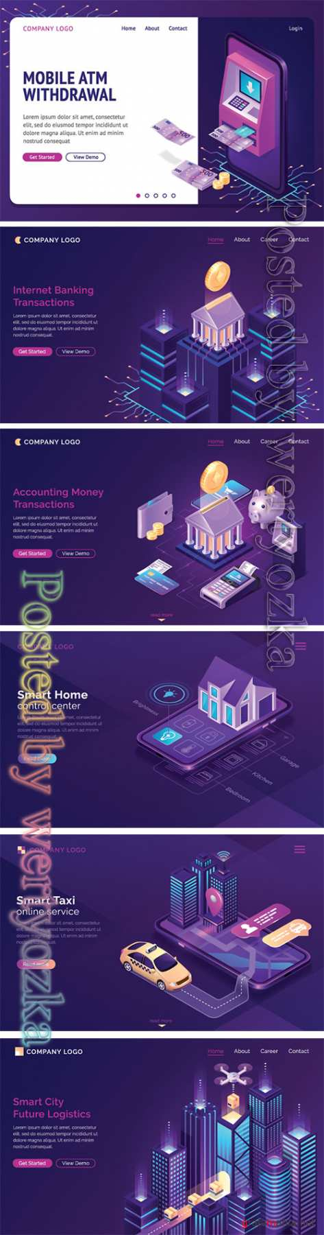 Flat isometric vector 3D concept illustration # 116
