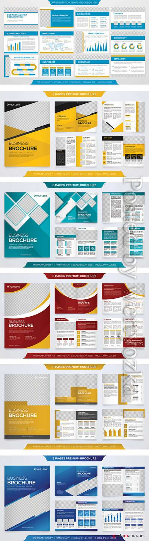 Brochure template design with minimalist concept