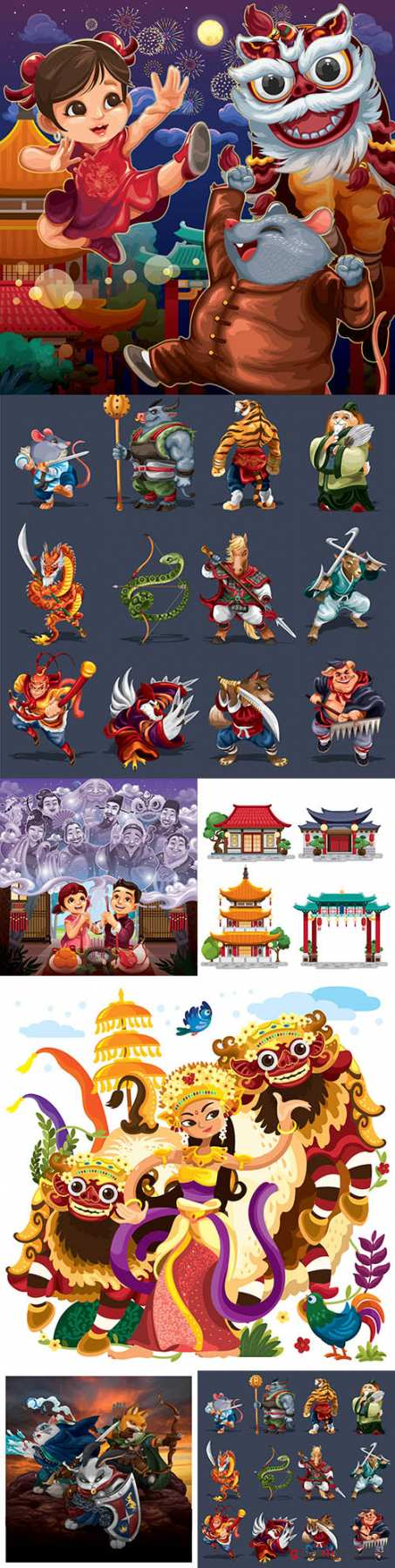 Chinese culture and tradition dsign illustration