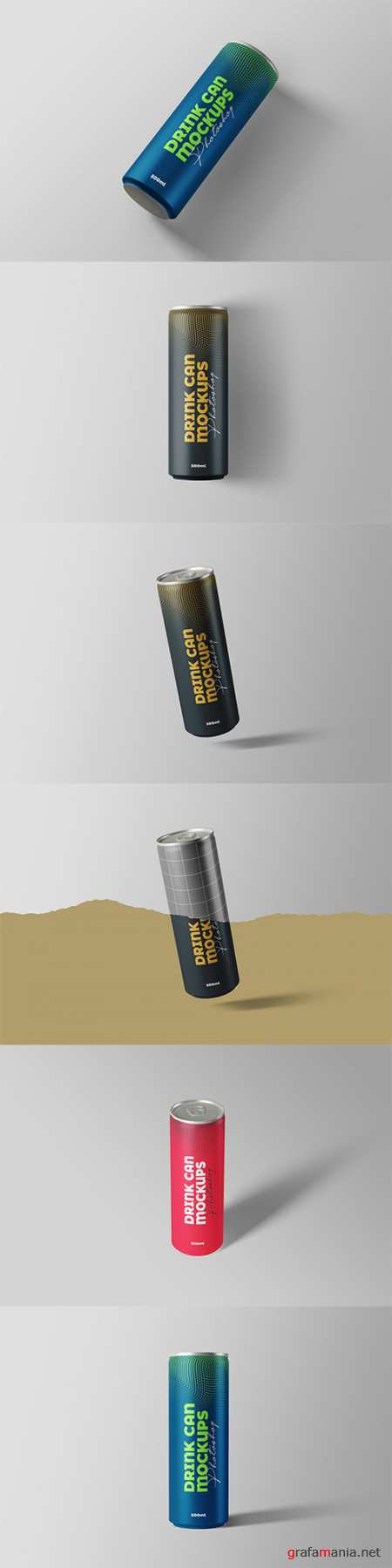 Drink Can Mockups 500ml