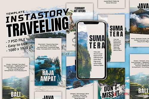 Travelling Instagram Story Template