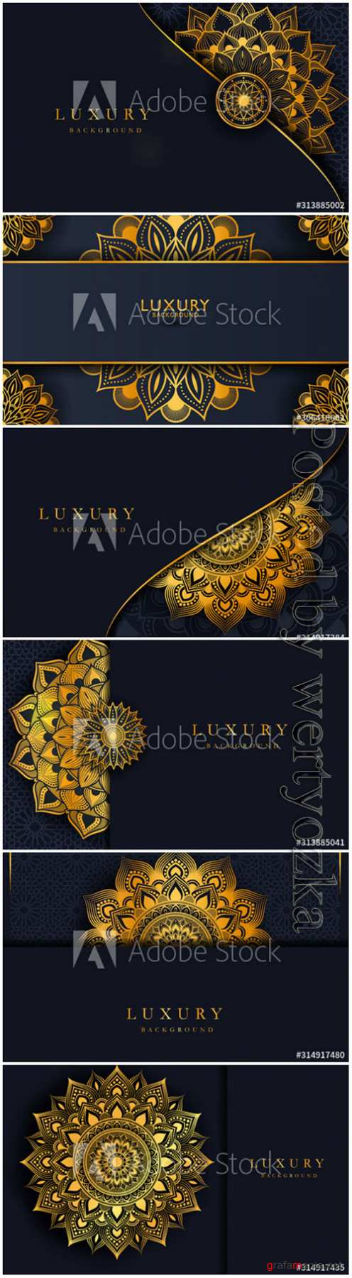 Luxury background with gold islamic arabesque mandala ornament