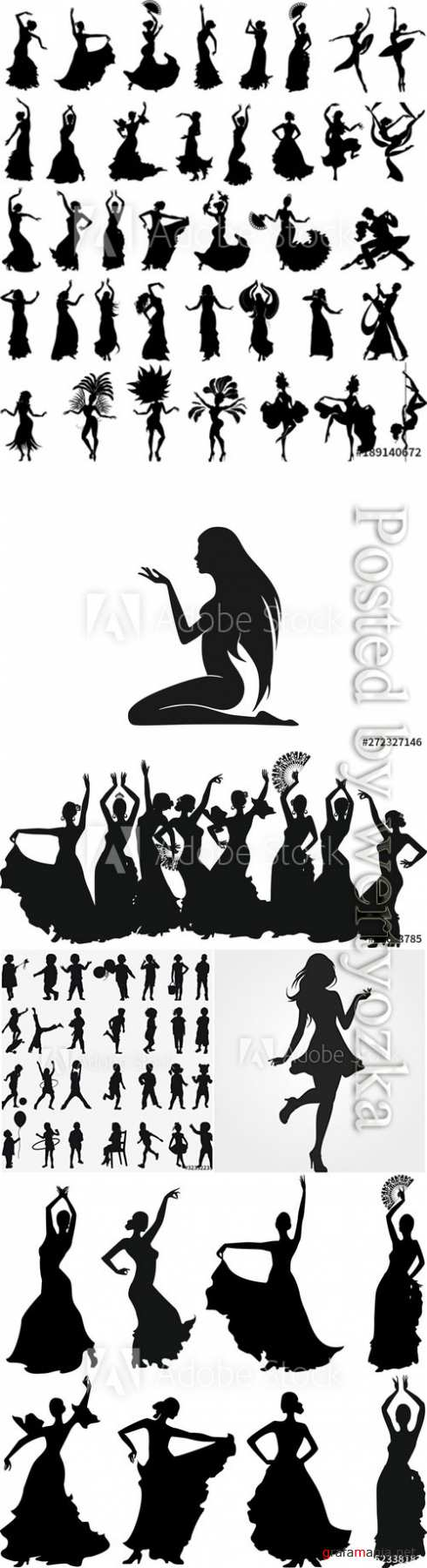 People silhouettes in vector