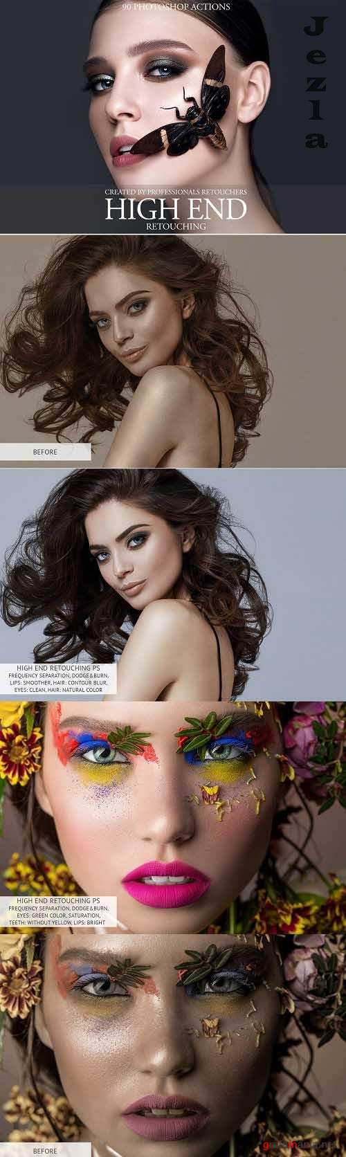 High End Retouching Photoshop Action - 3576680