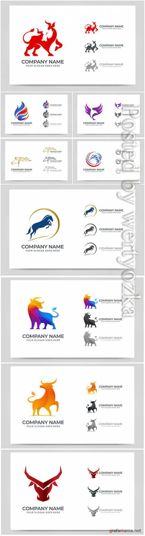 Modern abstract logo design