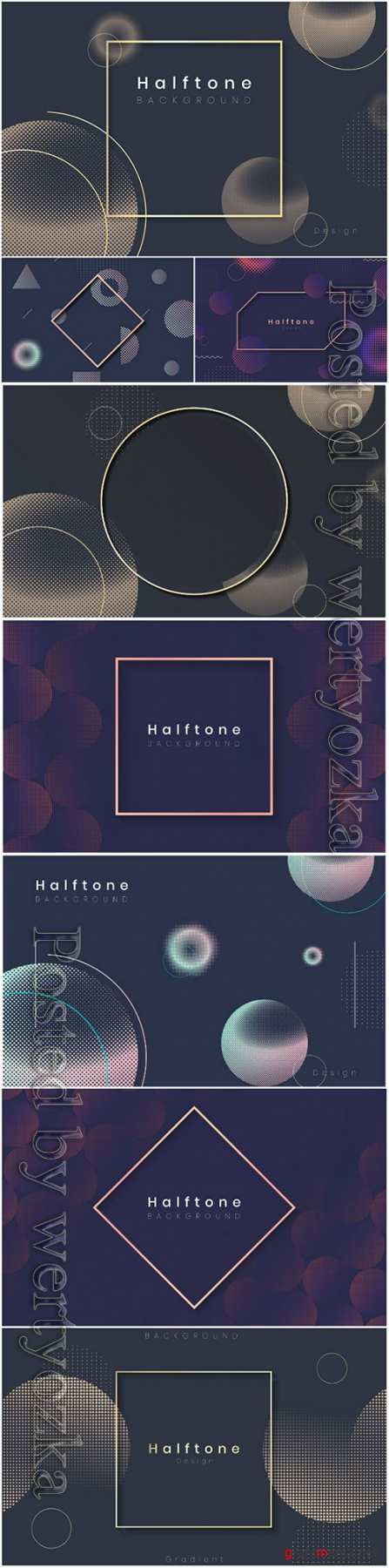 Halftone gradient vector background