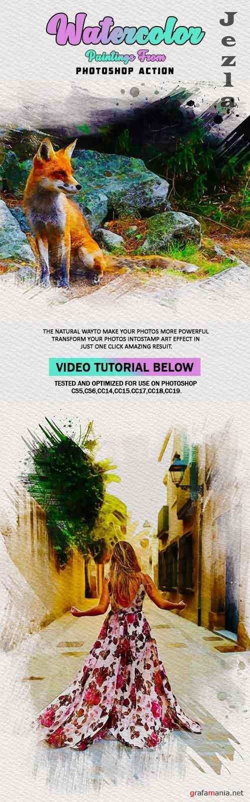Watercolor Paintings From Photoshop Actions 26086825
