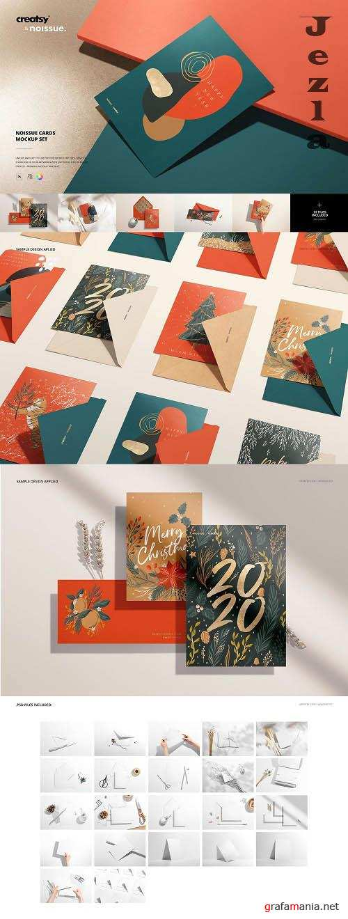 CreativeMarket - Noissue Cards Mockup Set 5741308 (Full collection)