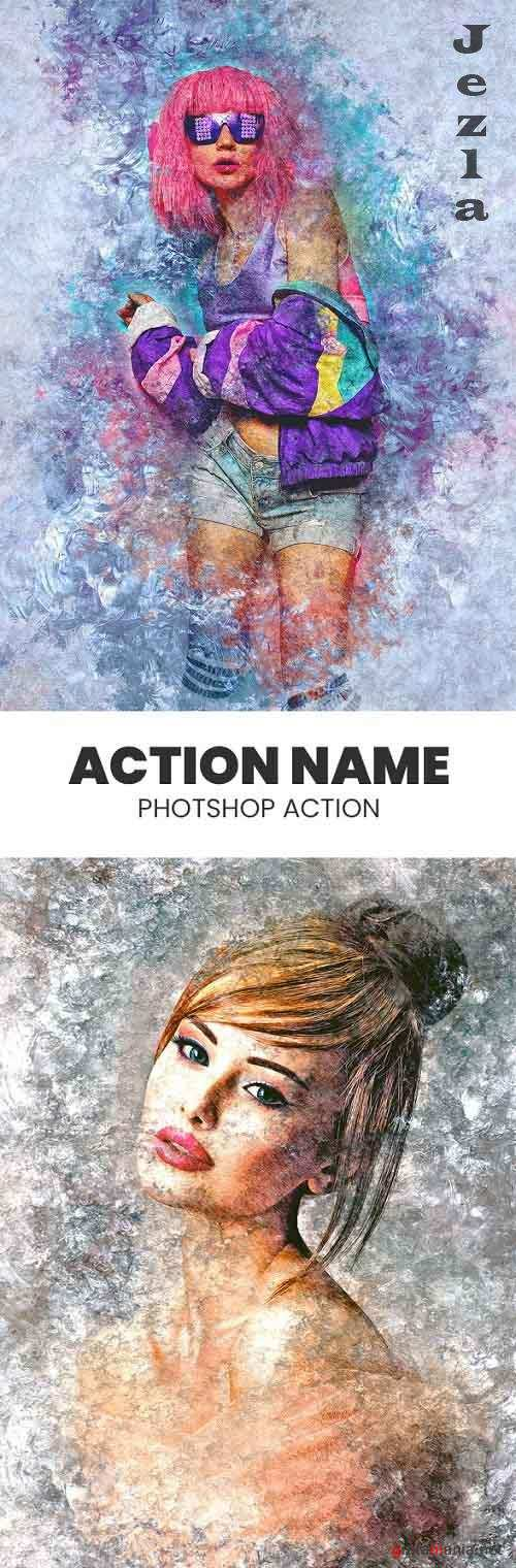 GraphicRiver - Grunge Ice Photoshop Action 29846975