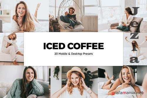 20 Iced Coffee Lightroom Preset LUTs - 5842198