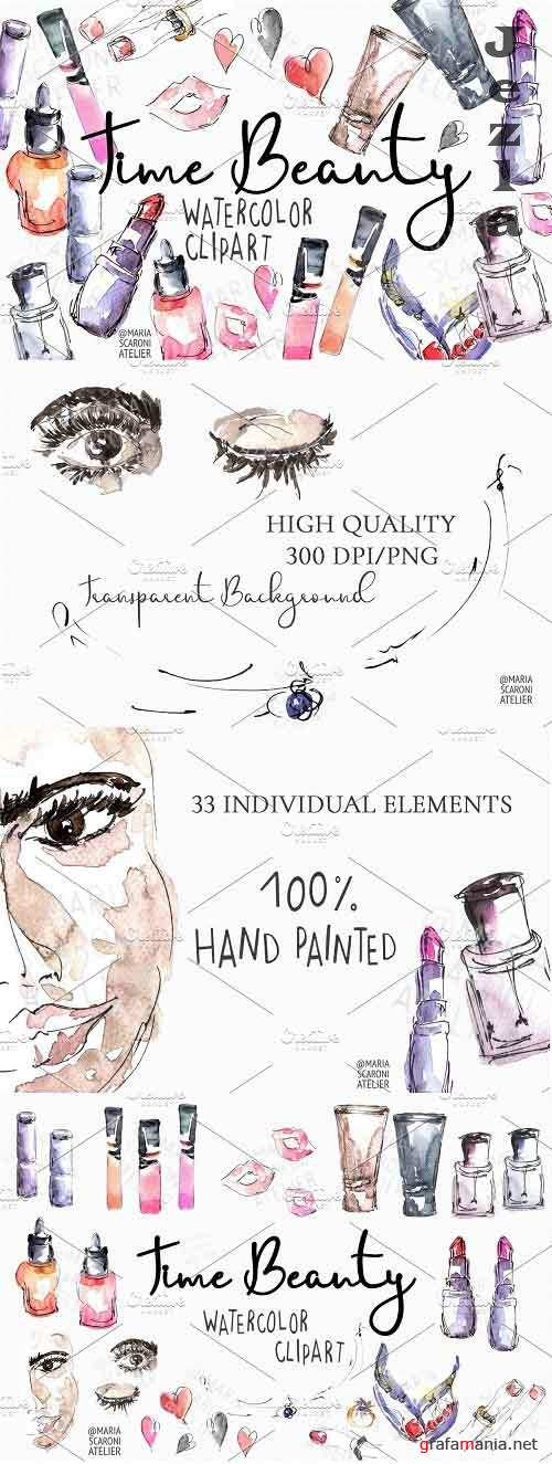 Makeup Clipart - 5847084 - Time Beauty