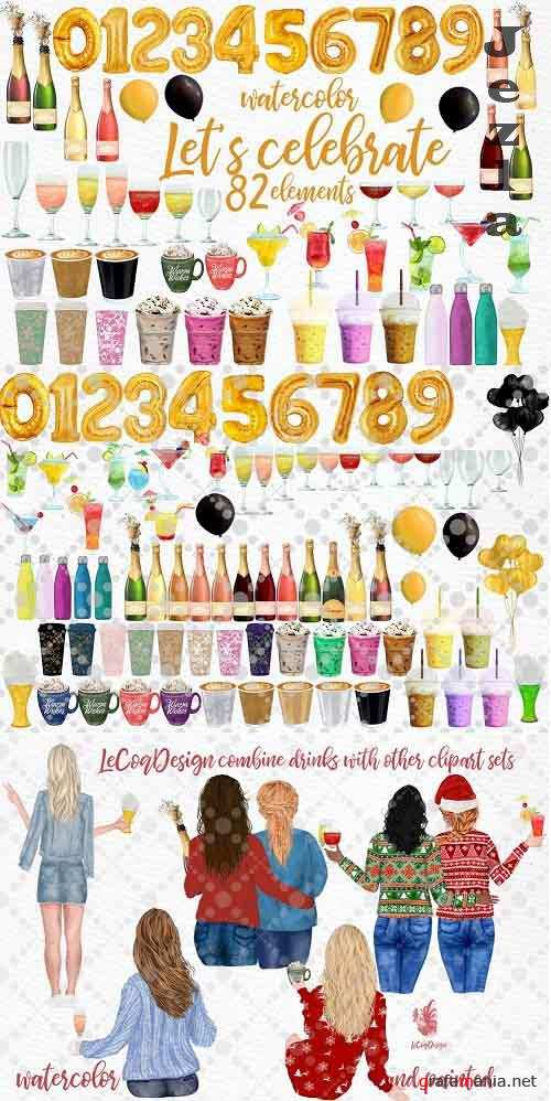Drinks clipart Champagne Bottles - 5856773