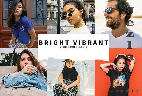 CreativeMarket - 10 Bright Vibrant Lightroom Presets 5808522