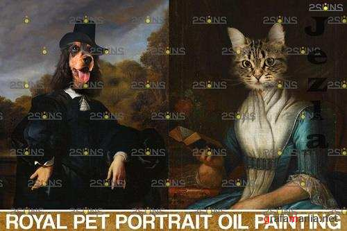 Royal Pet Portrait templates vol.12, Pet Painting - 1132902