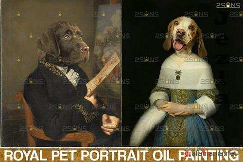 Royal Pet Portrait templates vol.14, Pet Painting - 1132905