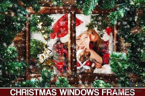 Window Frames Overlays Christmas Freeze Holiday photoshop - 1132943