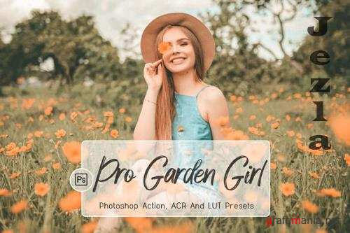 10 Pro Garden Girl Photoshop Actions, ACR, LUT Presets