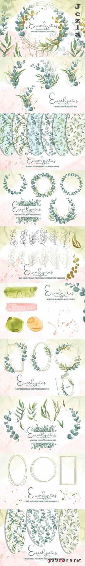 Eucalyptus Watercolor Collection - 5907503