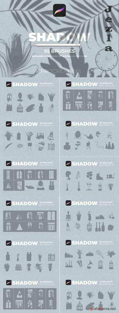 CreativeMarket - 95 Shadows for Procreate 5772700