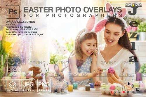 Easter backdrop, Photoshop overlay, Flower frame overlays V3 - 1213515
