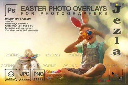 Easter backdrop, Photoshop overlay, Flower frame overlays V4 - 1213516
