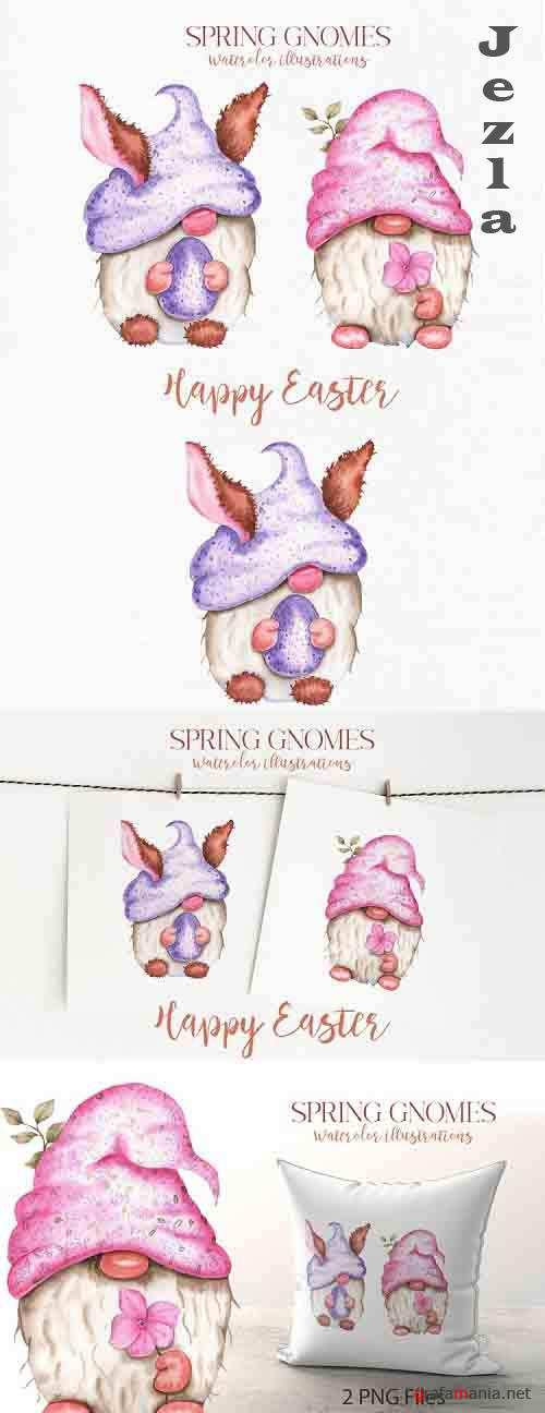Spring Gnomes Watercolor Files - 1240791
