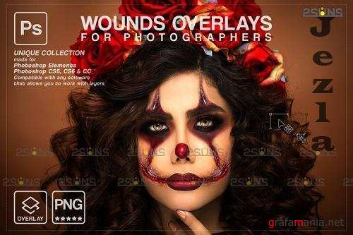 Wounds and scars Blood splatter photoshop overlay v34- 1132994