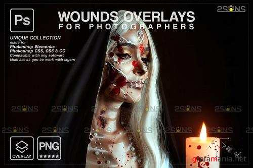 Wounds and scars Blood splatter photoshop overlay v35 - 1132998