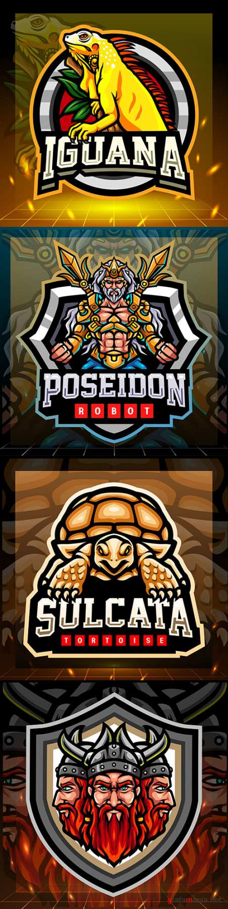 Mascot emblem gaming design cybersport illustration 8