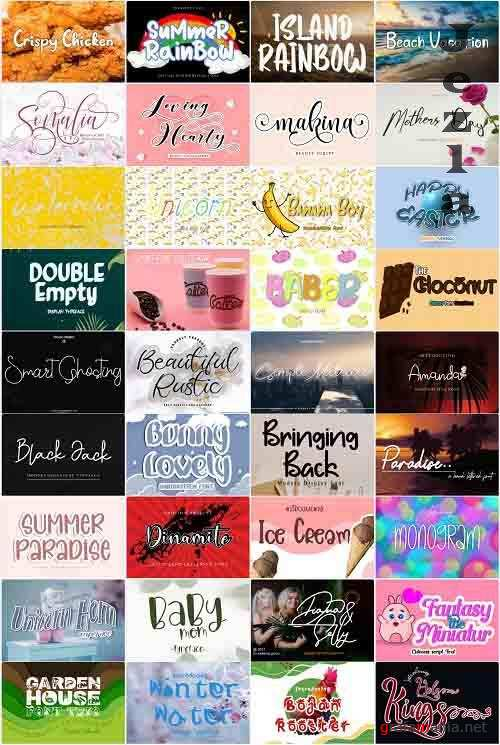Mix Font Bundle 41 - 36 Premium Fonts